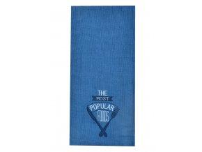 Utěrka POPULAR FOODS, 100% bavlna, modrá, 45x65 cm Essex