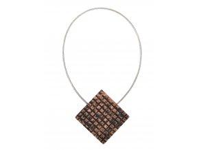 Dekorační ozdobná spona na závěsy s magnetem JOANA, hnědá, 3x3 cm Mybesthome