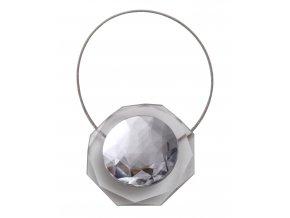 Dekorační ozdobná spona na závěsy s magnetem LUISA, bílá, 5,5x5,5 cm Mybesthome