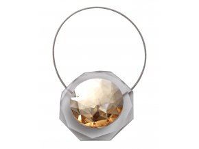 Dekorační ozdobná spona na závěsy s magnetem LUISA, zlatá, 5,5x5,5 cm Mybesthome