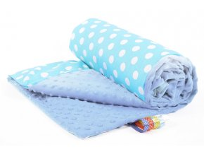 Dětská deka PUNTINI modrá/modrá bavlna s minky PLUS, 50x75 cm Mybesthome