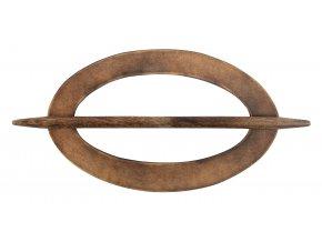 Dekorační ozdobná spona na závěsy z přírodního dřeva ANJU, 20x12 cm Mybesthome