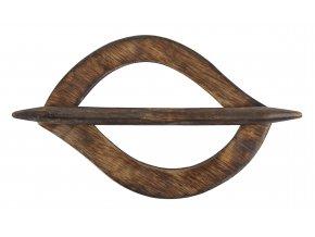 Dekorační ozdobná spona na závěsy z přírodního dřeva RAVI, 13,5x9 cm Mybesthome