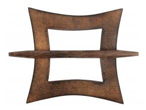 Dekorační ozdobná spona na záclony z přírodního dřeva ARUN, hnědá 12x12 cm Mybesthome