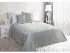 Luxusní saténový přehoz na postel MESALINA 220x240 cm stříbrná Mybesthome