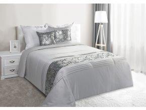 Luxusní saténový přehoz na postel CHERYL 220x240 cm stříbrná Mybesthome
