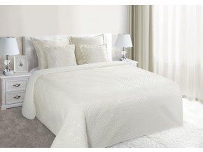 Luxusní přehoz na postel GASTON, krémová, 220x240 cm Mybesthome
