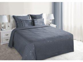 Luxusní přehoz na postel GASTON, šedá, 220x240 cm Mybesthome