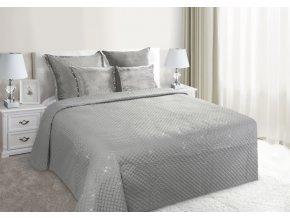 Luxusní přehoz na postel GASTON, stříbrná, 220x240 cm Mybesthome