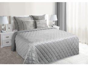 Přehoz na postel NOEL 200x220 cm stříbrná Mybesthome