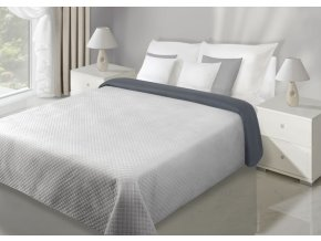 Přehoz na postel VELVET 220x240 cm stříbrná/šedá Mybesthome