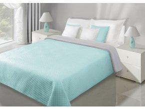 Přehoz na postel VELVET 220x240 cm mátová/stříbrná Mybesthome
