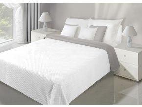 Přehoz na postel VELVET 220x240 cm bílá/stříbrná Mybesthome