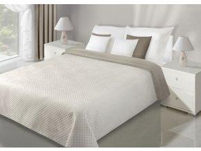 Přehoz na postel VELVET 220x240 cm béžová/krémová Mybesthome