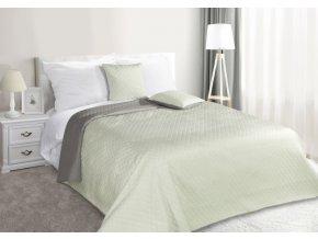 Přehoz na postel CARMEN 220x240 cm mátová/stříbrná Mybesthome