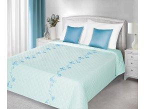 Přehoz na postel ANNA 220x240 cm modrá Mybesthome