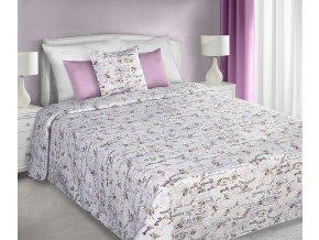 Přehoz na postel MARY ROSE 220x240 cm béžová/růžová Mybesthome