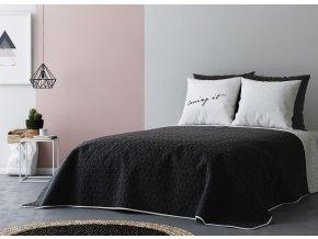 Přehoz na postel BLACK AND WHITE 220x240 cm černá/bílá MyBestHome