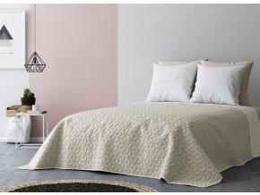 Přehoz na postel SIX STARS 220x240 cm béžová/krémová MyBestHome