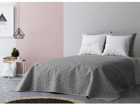 Přehoz na postel SIX STARS 220x240 cm tmavě šedá/světle šedá MyBestHome