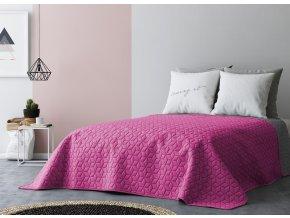 Přehoz na postel SIX STARS 220x240 cm růžová/tmavě šedá MyBestHome
