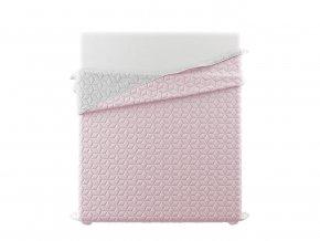 Přehoz na postel SIX STARS 220x240 cm růžová/světle šedá MyBestHome