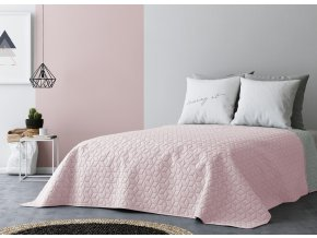 Přehoz na postel SIX STARS NEW 220x240 cm růžová/světle šedá MyBestHome