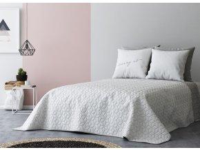 Přehoz na postel SIX STARS 220x240 cm bílá/světle šedá MyBestHome