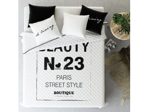 Přehoz na postel PARIS STYLE 200x220 cm bílá ESSEX