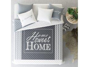 Přehoz na postel HOME SWEET 220x240 cm šedá Mybesthome