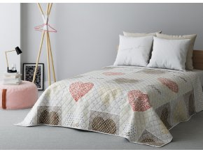 Přehoz na postel LOVE LOVE 220x240 cm béžová Mybesthome
