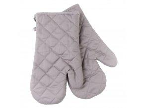 Kuchyňské bavlněné rukavice chňapky MULTICOLOR šedá, 100% bavlna 18x30 cm Essex
