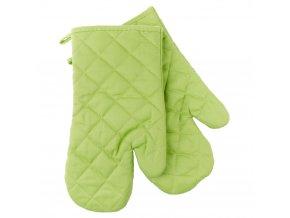 Kuchyňské bavlněné rukavice chňapky MULTICOLOR zelená, 100% bavlna 18x30 cm Essex