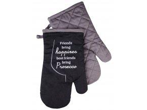 Kuchyňské bavlněné rukavice chňapky PROSECO motiv A, 100% bavlna 18x30 cm Essex