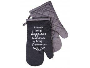 Kuchyňské bavlněné rukavice chňapky PROSECO motiv C, 100% bavlna 18x30 cm Essex