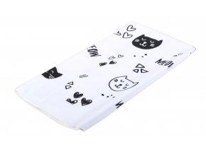 Utěrka CATS motiv C, bílá, mikrovlákno 38x63 cm, Essex