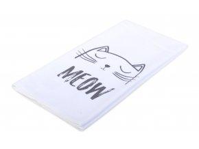 Utěrka CATS motiv B, bílá, mikrovlákno 38x63 cm, Essex