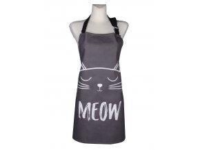 Kuchyňská bavlněná zástěra CATS, šedá, Essex, 100% bavlna