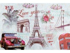 Prostírání LOVE PARIS 30x44 cm Mybesthome