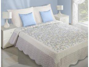 Přehoz na postel MAGNOLIA 220x240 cm bílá/modrá Mybesthome