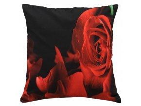 Polštář RŮŽE 02 MyBestHome 40x40cm fototisk 3D motiv růže