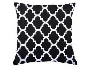 Bavlněný polštář ORNAMENTS, 100% bavlna, černá 45x45 cm Mybesthome