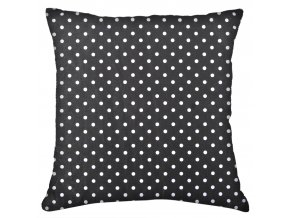 Bavlněný polštář PUNTINI, 100% bavlna, černá 45x45 cm Mybesthome