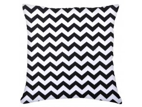 Bavlněný polštář WAVES 100% bavlna, bílá/černá, 45x45 cm Mybesthome