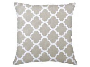Bavlněný polštář ORNAMENTS, 100% bavlna, šedá 45x45 cm Mybesthome