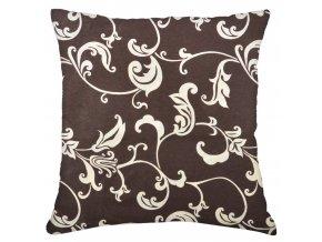 Bavlněný polštář LILIE, 100% bavlna, hnědá 45x45 cm Mybesthome
