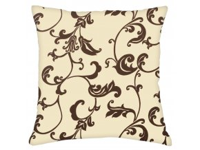 Bavlněný polštář LILIE, 100% bavlna, krémová 45x45 cm Mybesthome