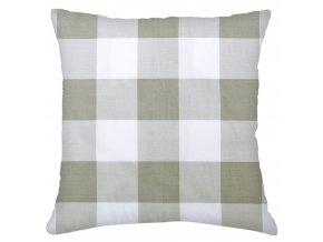 Bavlněný polštář KOSTKY, 100% bavlna, šedá, 45x45 cm Mybesthome