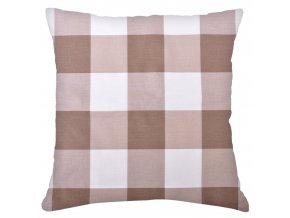Bavlněný polštář KOSTKY, 100% bavlna, hnědá, 45x45 cm Mybesthome