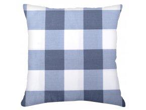 Bavlněný polštář KOSTKY, 100% bavlna, modrá, 45x45 cm Mybesthome